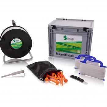 STRAB premium Spielfeldmarkierung in praktischer Transportbox – für Frisbee